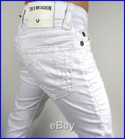 True Religion $329 Men's Rocco Super T White Distressing Jeans MDAJ60N24D