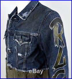 True Religion $329 Men's Two Tone Graffiti Danny Denim Jacket 100218