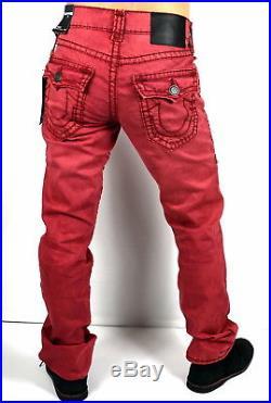 True Religion $329 Ricky Rigid Stretch Denim Straight Super T Jeans M859NZY8