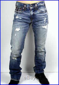 True Religion $329 Ricky Super T Straight Deep Hypnotic Jeans MDA859N22R