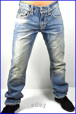 True Religion $349 Hand Picked Ropestitch Straight Super T Jeans -101012