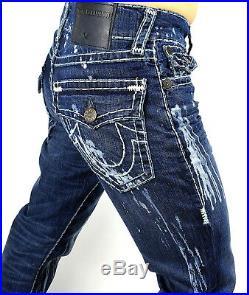 True Religion $349 Men's Geno Slim Straight Super T Brand Jeans MDAE08N27Q