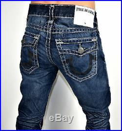 True Religion $369 Men's Geno Day Shadows Slim Straight Super T Jeans ME08NUQ8
