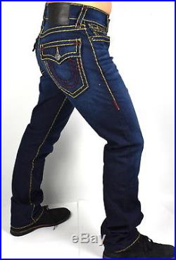 True Religion $369 Men's Ricky Murky Tide Relaxed Straight Super T Jeans -100083