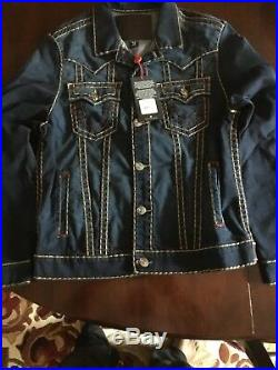 True Religion $389 Men's Jimmy Murky Tide Super T Denim Jacket 100164
