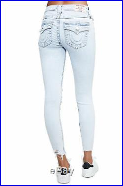 True Religion Auric Field Womens Distressed Super Skinny Ankle Jeans 23 New $229