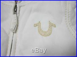 True Religion Brand Boys White Sherpa Big T Hoodie Jacket Coat Size Small New