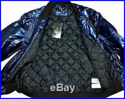 True Religion Brand Jeans $269 Men's Navy Iridescent Design Bomber Jacket 103160