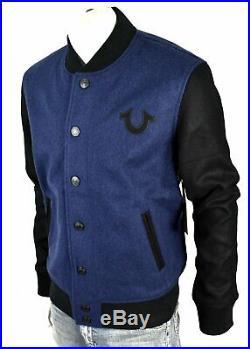 True Religion Brand Jeans Men's Block Stack Wool Varsity Jacket 101698