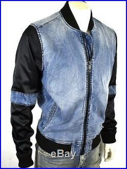 True Religion Brand Jeans Men's Contrast Sleeve Bomber Jacket 101608