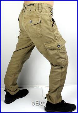 True Religion Brand Jeans Men's Mended Incense Modern Cargo Pants MDBD02628T