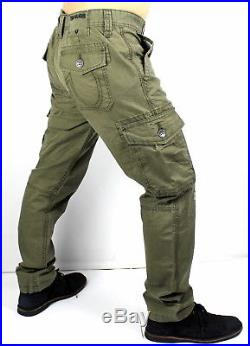 True Religion Brand Jeans Men's Olive Modern Cargo Pants MDBD02628T