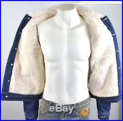 True Religion Brand Jeans Men's Porkchop Sherpa Fur Line Denim Jacket 101684