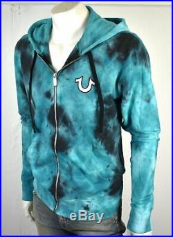True Religion Brand Jeans Men's Tie Tye Zip Up Hoodie Sweatshirt 101919