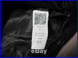 True Religion Brand Mens Black Cowhide L/s Racer Leather Jacket Size 2xl XXL New