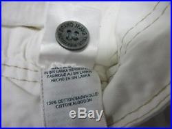 True Religion Brand Mens Trapper White Cotton Cargo Shorts Size 33 New Rare