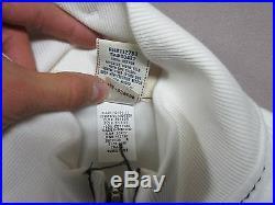 True Religion Brand Mens White Track Sweat Qt Zip Up Jacket Size Medium New