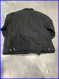 True Religion Danny Core Denim Jacket Slim Black Dark Metal XL Nwt New