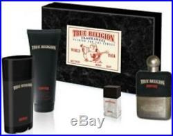 True Religion Drifter 3.4 OZ Eau De Toilette Spray New in Box 4 Piece Gift Set