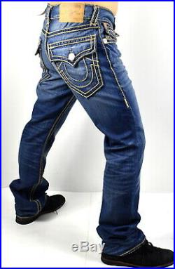 True Religion Hand Picked Ropestitch Straight Super T Jeans 101357