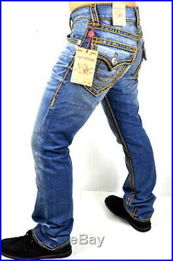True Religion Hand Picked Ropestitch Straight Super T Jeans 101492