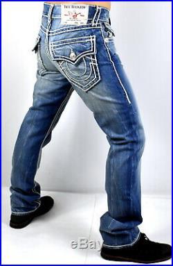 True Religion Hand Picked Straight Ropestitch Super T Jeans 102034