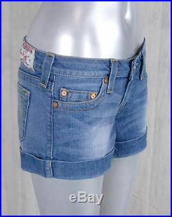 True Religion Jeans ALLIE high thigh cuffed shorts sugar creek WLH4J22BCS
