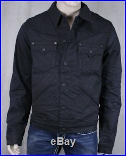 True Religion Jeans Denim JOHNNY western Jacket Black Rider coated MAC9020EL
