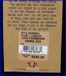 True Religion Jeans JULIE Skinny Chessboard Swarovski Lonestar black WAX599V41