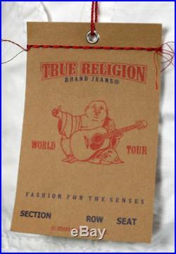 True Religion Jeans Men's ISAAC WHITE Cargo Tonal SHORTS Optic Rinse MAR841K33