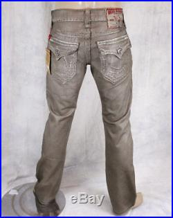 True Religion Jeans Men's Ricky Super T Coated stain resistant Taupe 24859NBT2