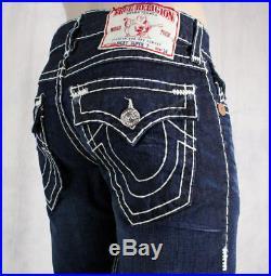True Religion Jeans Men's Ricky Super T Ransom dark wash straight leg 24859NBT2