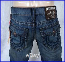True Religion Jeans Men's Ricky Super T Shasta brown navy stitch M24859U38
