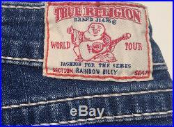 True Religion Jeans'RAINBOW BILLY' Size 28 L34 Stretch NEW RRP $589 Womens