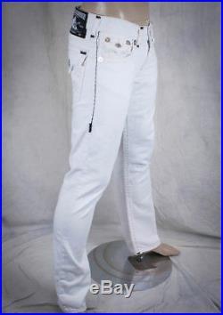 True Religion Jeans Ricky Super T contrast BLACK stitch optic white M58859CD1