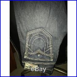 True Religion Jeans Size 38 Mens, Brand New! Black Denem