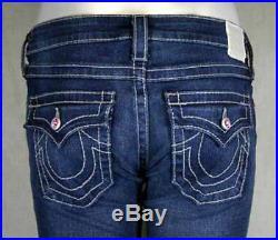True Religion Jeans Women's DISCO Pink Joey Big T Swarovski Crystals 10503A77
