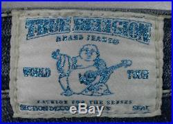 True Religion Jeans Women's Disco Joey Big T Medium Drifter Aqua 10503AC rare