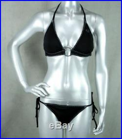 True Religion Jeans brand Women's SUPER T Bikini set Black NEW