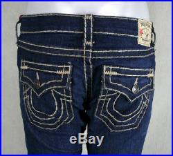 True Religion Jeans women's Billy Super T straight RETRIBUTION natural stitch