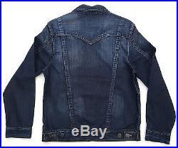 True Religion Jimmy Dated Block City Jean Denim Jacket mr62nxl3 100% authentic