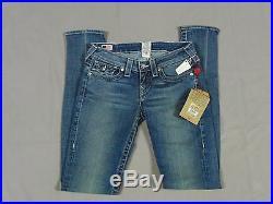 True Religion Jodie Crystal Womens Glitz N Glam Omaha Blue Jeans Size 26 New
