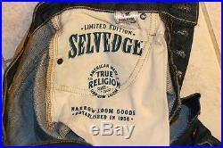 True Religion Kurt Slim Fit Men's Raw Selvedge Denim Jeans MADE IN USA NEW 32x32