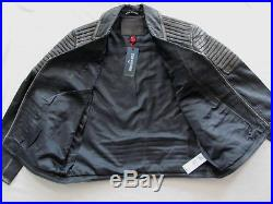 True Religion Leather Moto Biker Jacket- Distressed Black- Men's Small -NWT $499