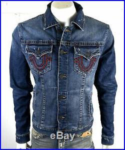 True Religion Manchester United $269 Men's Embroidered Denim Jacket 101665