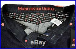 True Religion Manchester United Ricky Body Rinse Relaxed Straight Jeans 102267