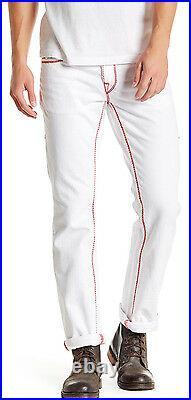 True Religion Mega Straight Leg Jean Optic White 33, 34 NWT $299
