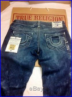 True Religion Mega T stretch skinny jeans 27x31 Cosmic Dust Color $299.00 Retail