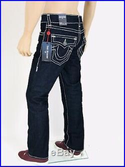 True Religion Men Jeans Super T 31 32 33 34 36 38 40 Super Stitch Blue Rope Navy