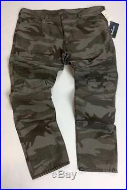 ea3c5abc True Religion Men Military US Army Camo Moto Biker Rider Jeans Geno Relaxed  Slim